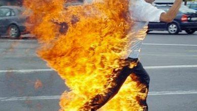 Photo of Mujer prende fuego a su esposo en plena calle