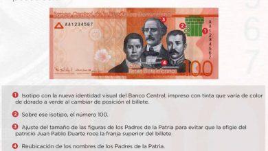 Photo of El Banco Central emite billete de RD$100.00 con la nueva identidad visual institucional
