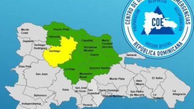 Photo of Emiten alerta amarilla para Santiago y verde para otras 9 provincias por lluvias