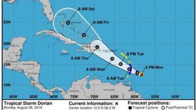Photo of Dorian tocaría territorio dominicano como huracán categoría uno el jueves.