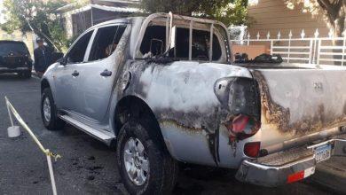 Photo of Incendian camioneta de candidato a senador del PLD por San José de Ocoa.