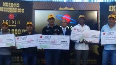 Photo of LEIDSA entrega RD$125 millones a cinco nuevos ganadores.