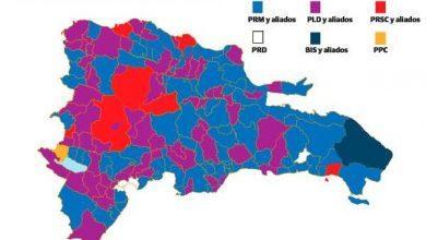 Photo of El PRM sube de 30 a 80 alcaldías y el PLD baja de 107 a 67 en elecciones.