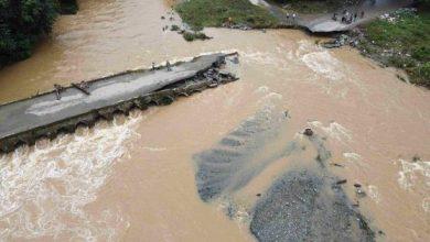 Photo of Aguaceros destruyen puente El Badén en La Vega y afectan viviendas en Santiago.