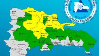 Photo of Ocho provincias en alerta amarilla y otras 12 en verde por posibles inundaciones.