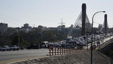 Photo of Bloquean el paso desde Santo Domingo Este hacia el Distrito Nacional por el puente Juan Bosch.