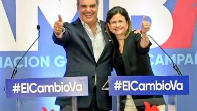 Photo of Sergia Elena de Séliman y Raquel Peña, vices de Leonel y Abinader.