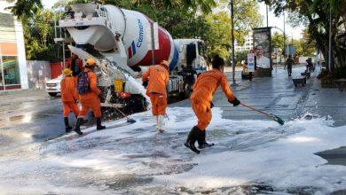 Photo of MOPC, Empresas Constructoras y Hormigoneras realizan jornada de limpieza en áreas públicas.