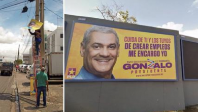 """Photo of Gonzalo Castillo manda a retirar propaganda política para """"el embellecimiento del país""""."""