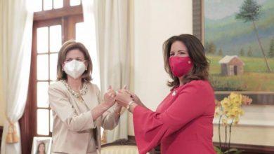 Photo of Margarita Cedeño se reúne con la vicepresidenta electa Raquel Peña.