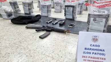 Photo of Capturan lancha con 263 paquetes de cocaína en costas de Barahona