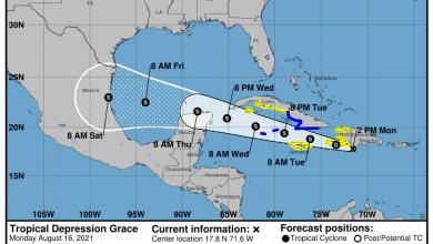 Photo of Onamet: Se discontinúan los alertas de tormenta tropical, el centro de Grace saliendo de nuestro País